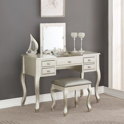 Torrance Vanity Set With Stool And Mirror In 2020