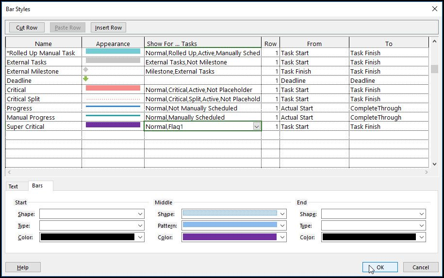 Microsoft Project And Super Critical Bars  Microsoft Project
