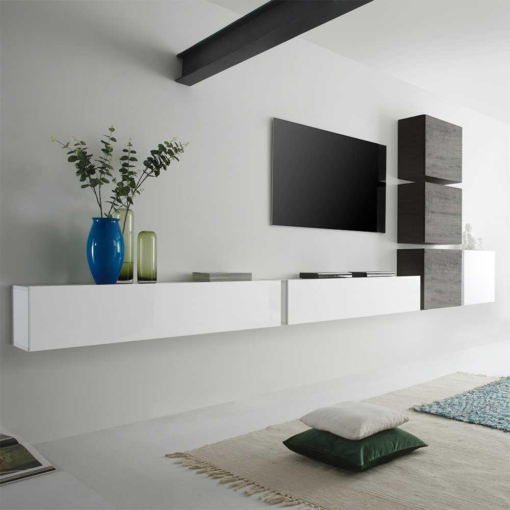 TV Anbauwand In Weiß Hochglanz Wenge Hängend (6 Teilig) Jetzt Bestellen  Unter: Gallery