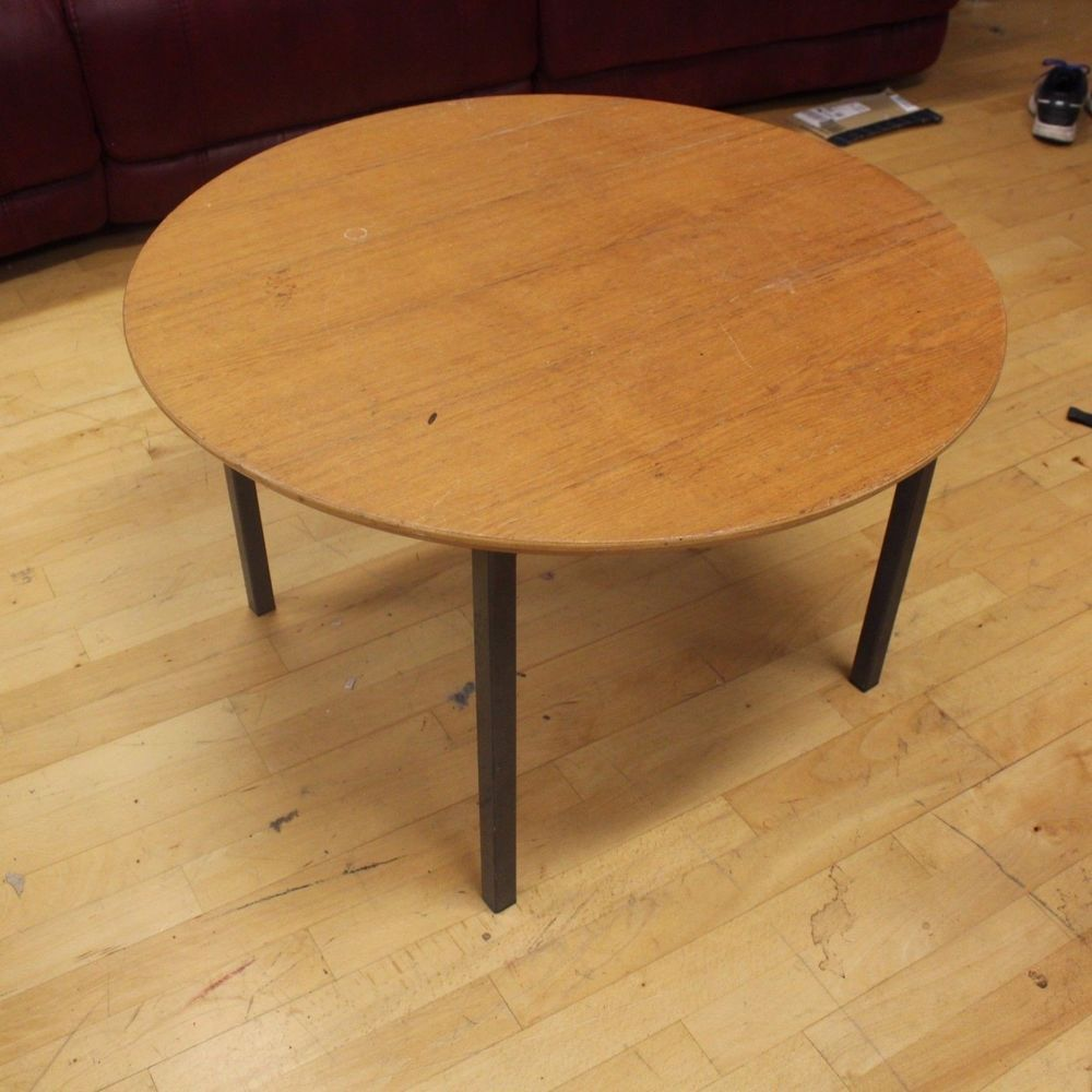 Small Round Low Level Coffee Table Solid Wood Top Amp Metal Frame 80 Cm Diameter Coffee Table Table Solid Wood [ 1000 x 1000 Pixel ]