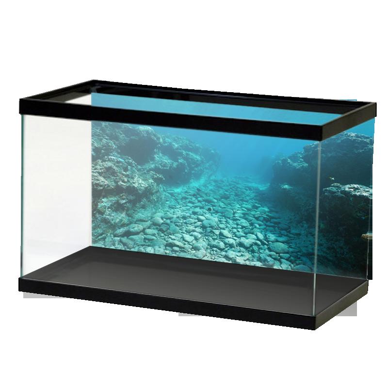 Rocky Riverbed Open Water Background Aquarium Vinyl Water Background Fish Tank Design Open Water