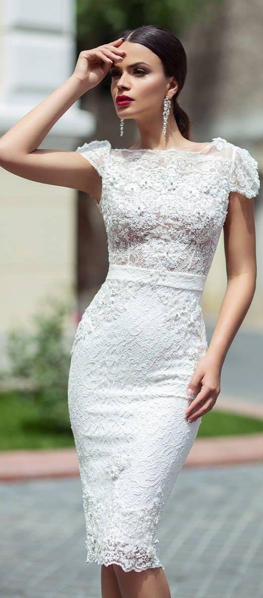 Vestidos para Boda por El Civil!! | Pretty wedding dresses, Wedding ...