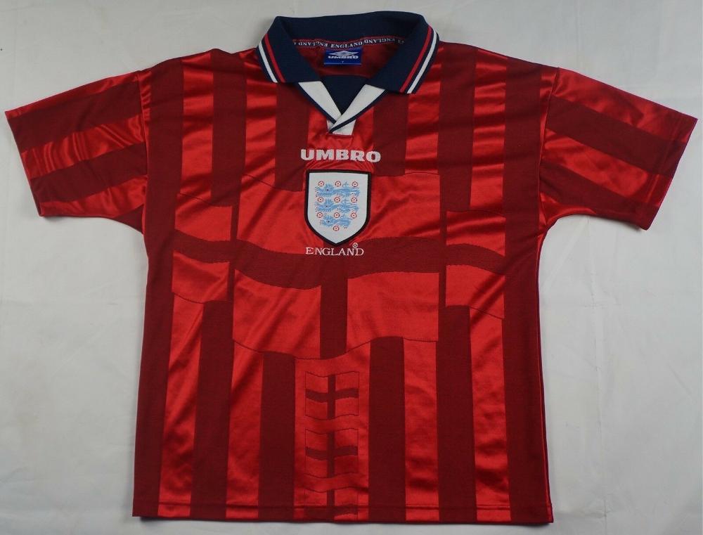 Rare Vintage Umbro England Vapa Tech Performance Soccer Cup Polo Shirt 90s Sz Y2 15 59