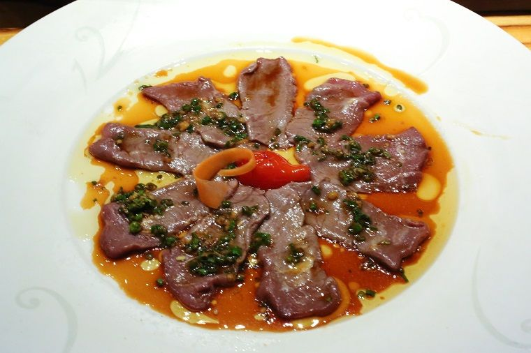 New style sashimi de carne