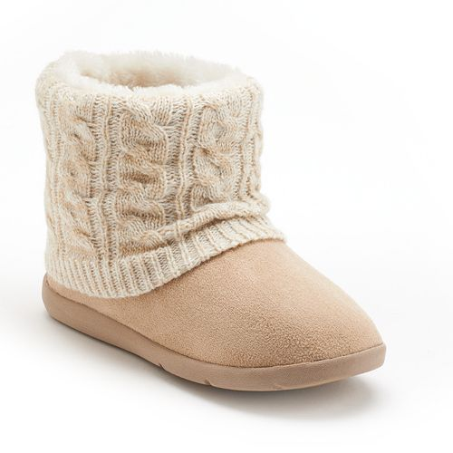 72957c86108 SONOMA Goods for Life™ Knit Shaft Bootie Slippers - Women | Gift ...