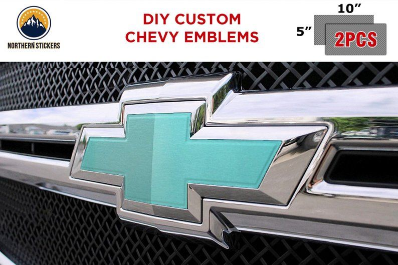 Tiffany Blue Chevrolet Chevy Custom Diy Emblem Badge Vinyl Chevy Emblems Tiffany Blue