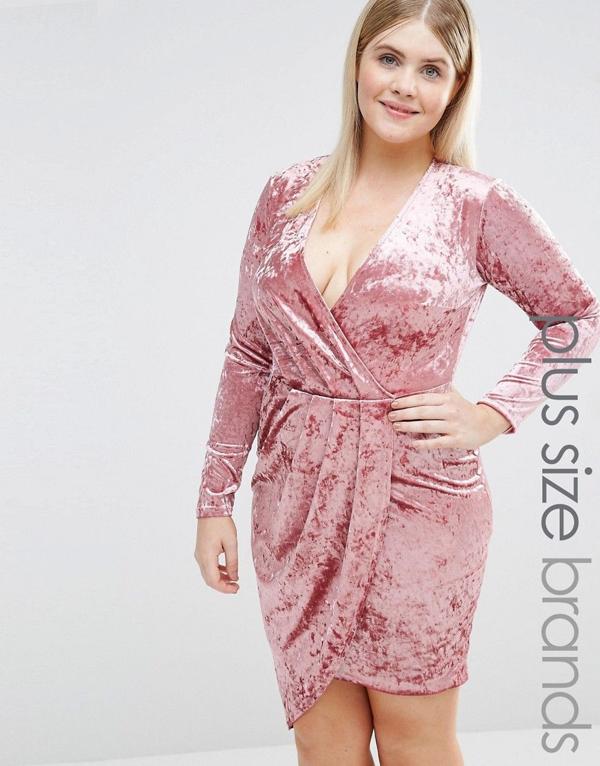 Club+L+Plus+Wrap+Front+Velvet+Mini+Dress | Hypothetical Wardrobe ...