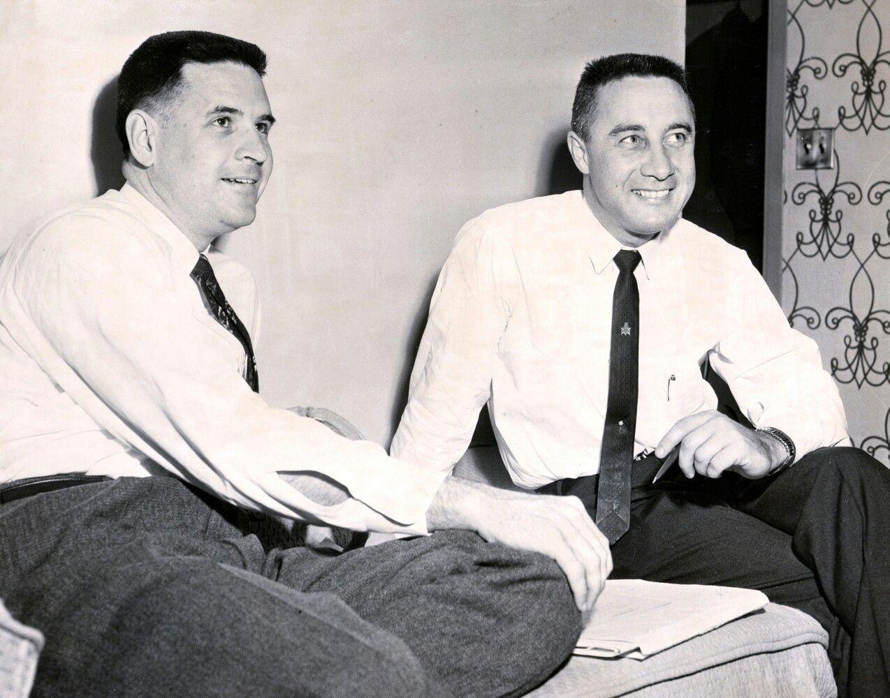 Apollo Spacecraft Program Manager, Joe Shea with Gus ...
