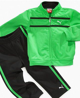 Jacket, Pants; Blue//Black; Macy/'s New Boys PUMA Track Outfit - Size 24 mo
