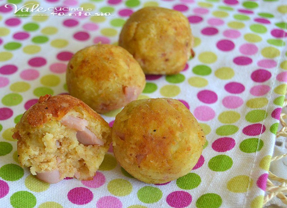 Polpettine di patate e prosciutto