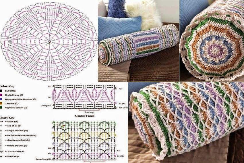 Crochet y Dos agujas: Almohadón con forma de cilindro | almohadones ...