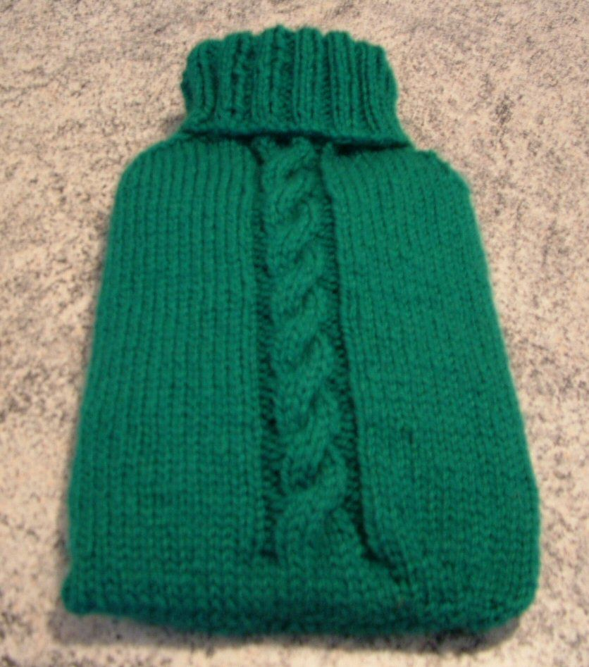 Hot Water Bottle Cover Pattern - Knitting Patterns and Crochet | Get ...