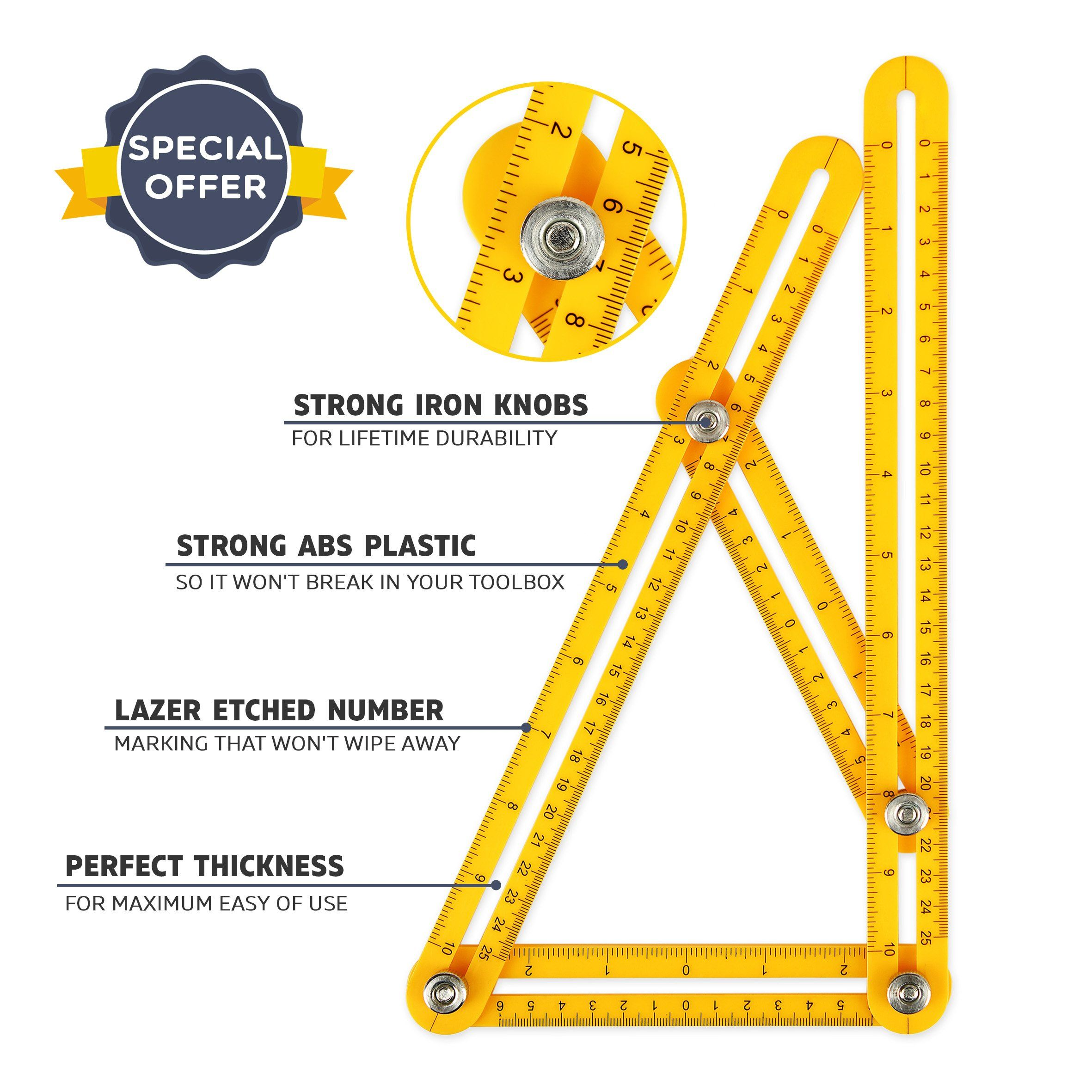 Angle Sizer Multi Angle Measuring Template Tool With Unique Strong Metal Bolts And Screws Use In Carpentry Building Desi Woodworking Woodworking Tools Tool Box