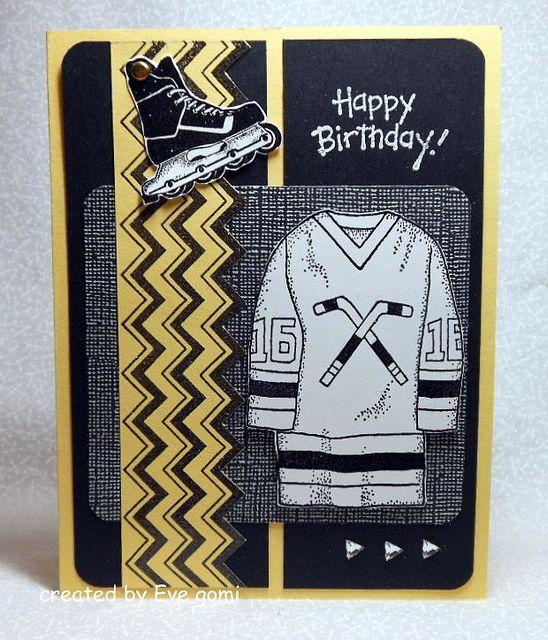 Masculine Birthday Card For A Hockey Fan Crafts Pinterest