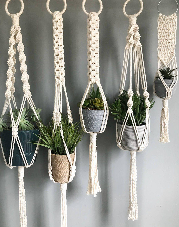 Kleine Makramee Pflanze Aufhänger / / Boho Dekor / / saftig Pflanze Aufhänger / / moderne Makramee
