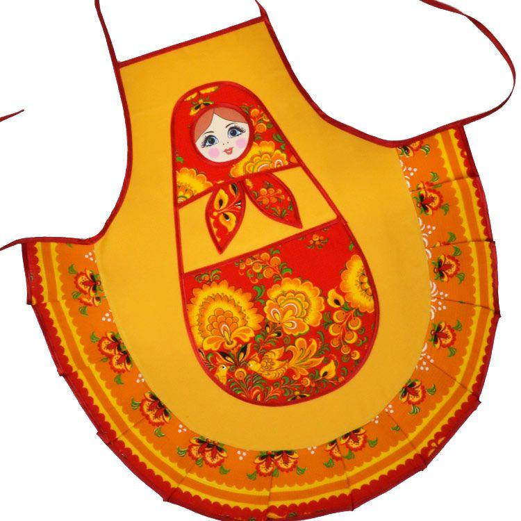 russian doll kitchen apron russian dishware kitchen accessories rh pinterest com