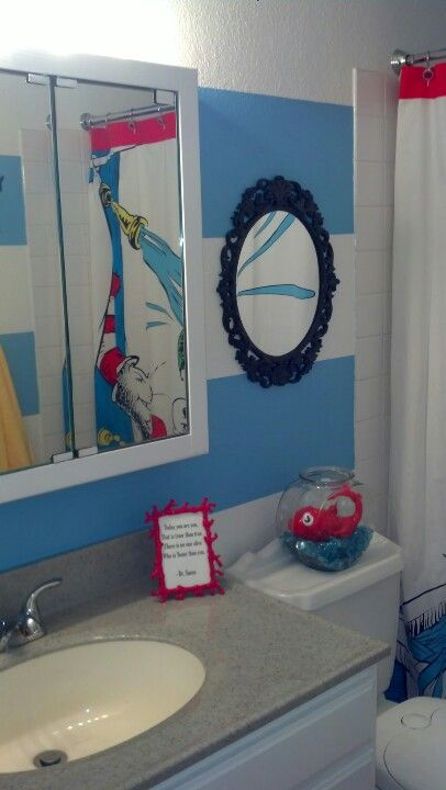 My DIY Dr. Seuss Bathroom For All You Seuss Fans!