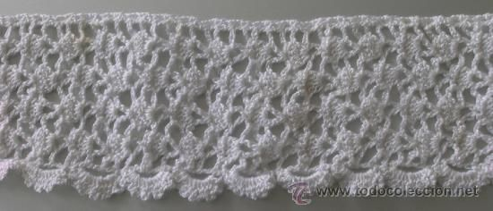 Tira - Cenefa - Puntilla Ganchillo/Crochet - Color Blanco - A ...
