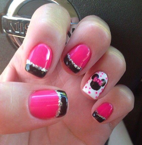 Minnie | nails | Pinterest | Diseños de uñas, Arte de uñas y Cabello