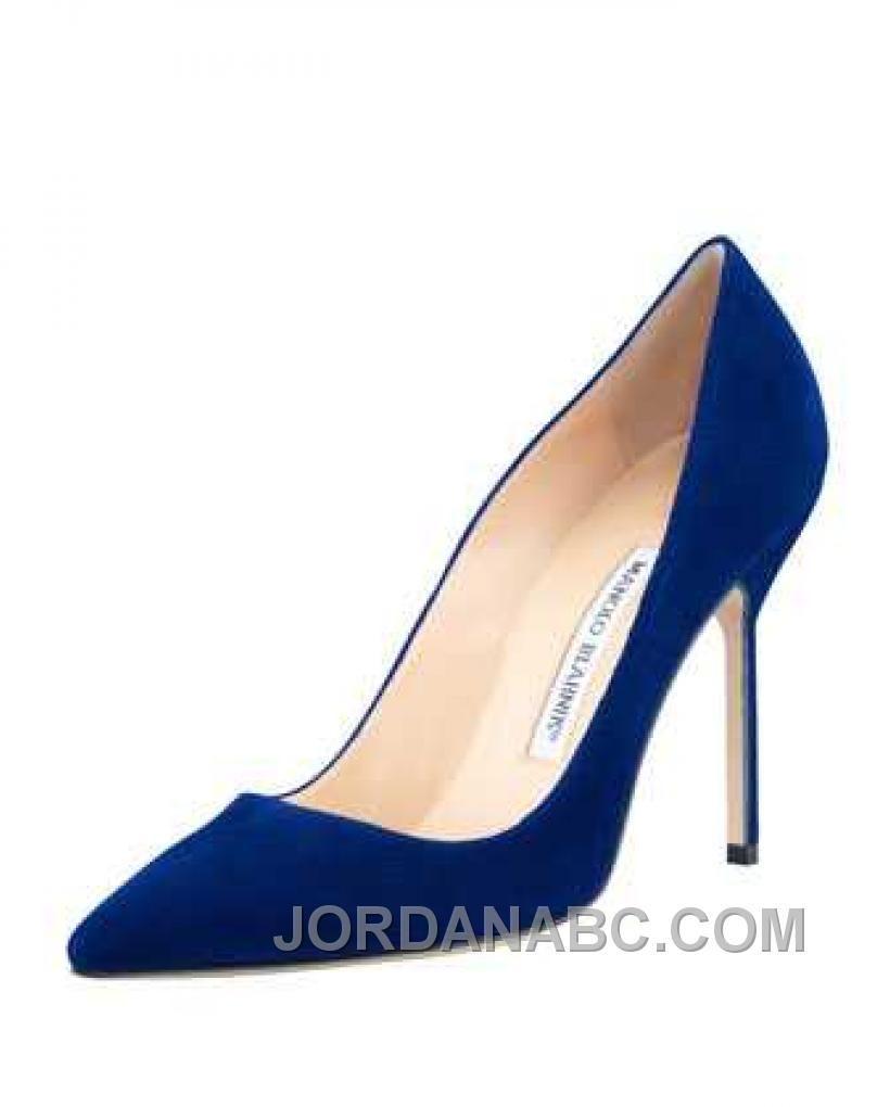 http www jordanabc com manolo blahnik bb suede 105mm pump cobalt rh pinterest com