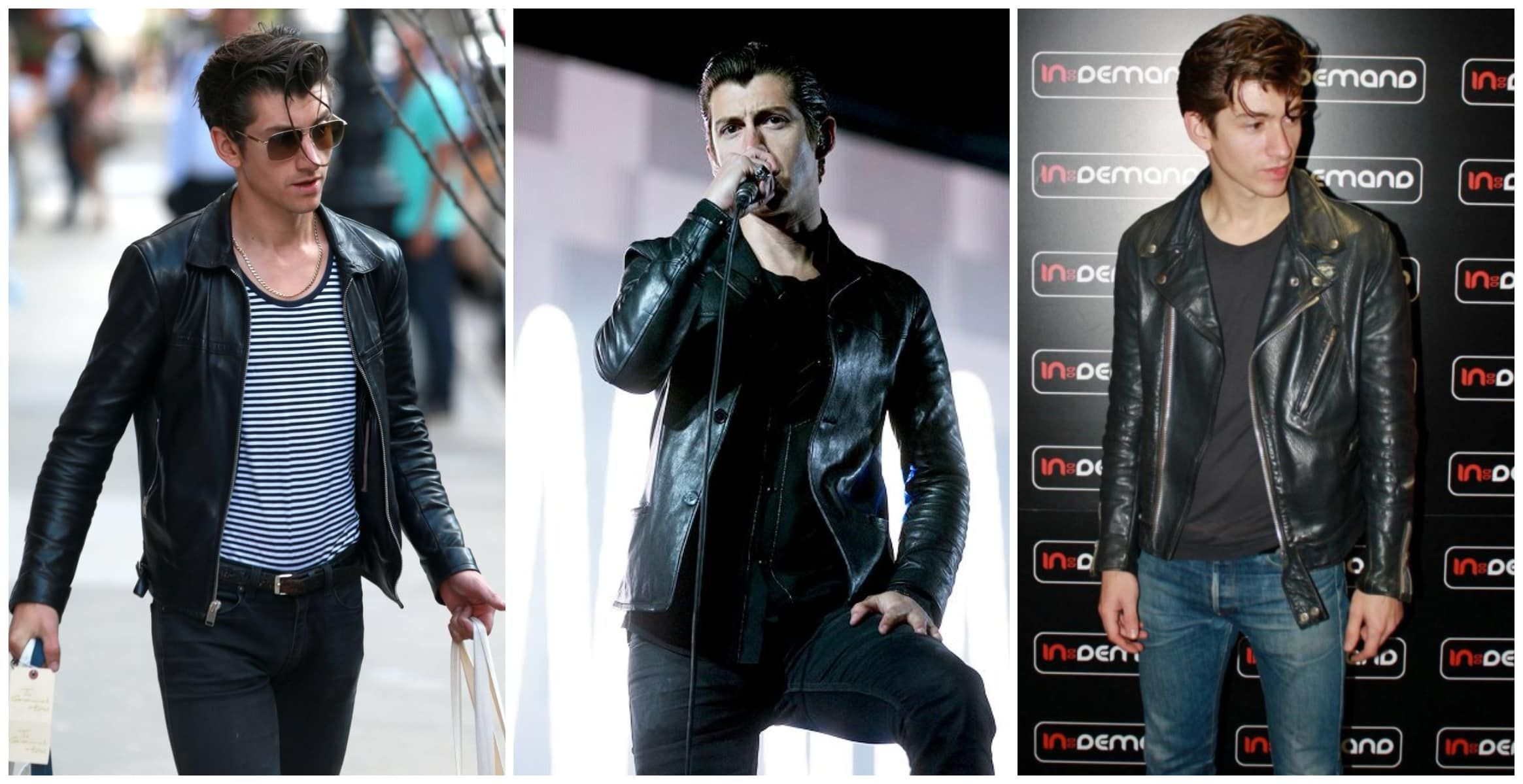 How To Dress Like Alex Turner Alex Turner Leather Jacket Light Blue Pants Alex Turner [ 1199 x 2329 Pixel ]