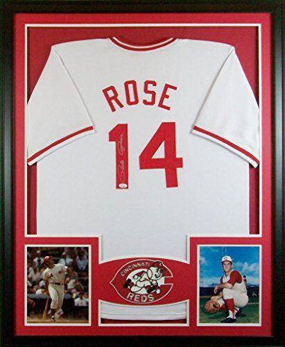 Pete Rose Framed Jersey Signed JSA COA Autographed Cincinnati Reds ...