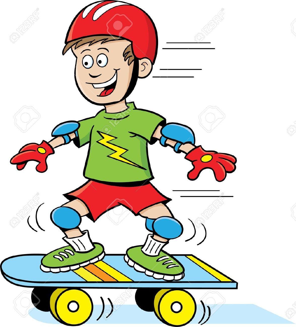 Skateboard Boy Skateboard Boy Boy Character Cartoon People