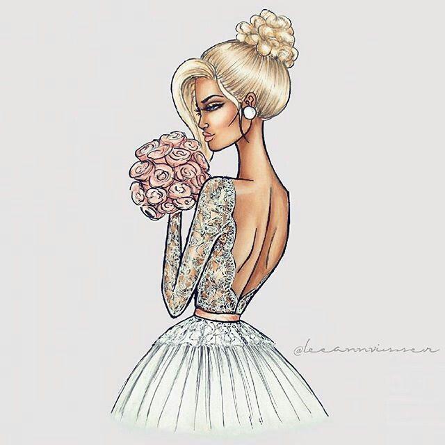 Wedding Hairstyles Drawing: Bocetos De Vestidos De Novia