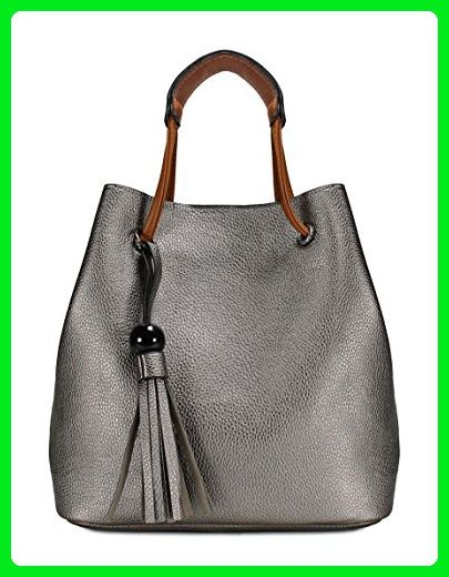 Scarleton Chic Couture Shoulder Bag H201226 - Silver Grey - Top handle bags  ( Amazon 315222f4fd