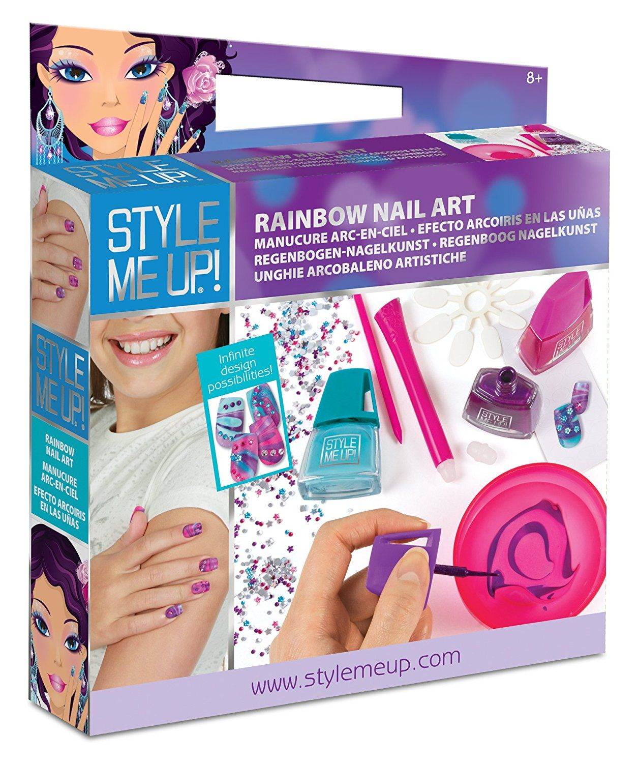 Style Me Up! Rainbow Nail Art -- Check this awesome ...