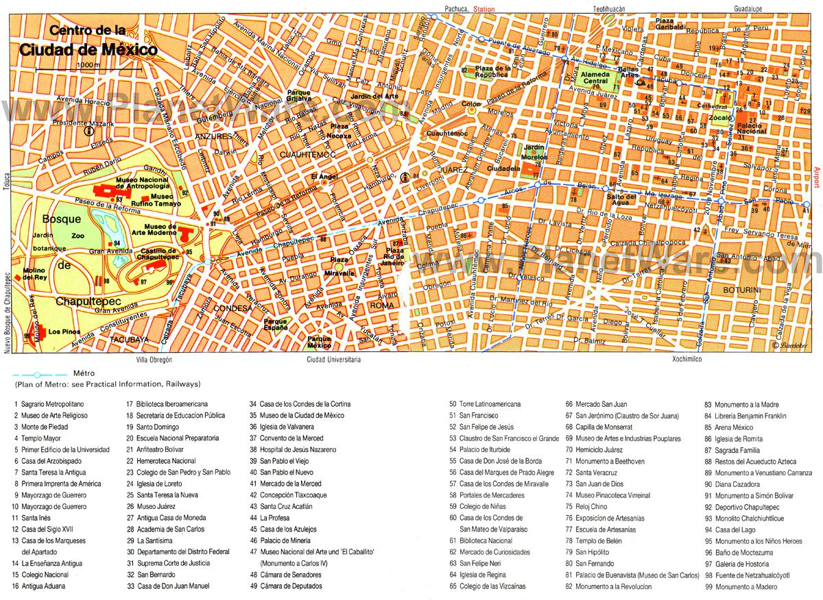 Mexico City Map Attractions Faces Pinterest Mexico city map