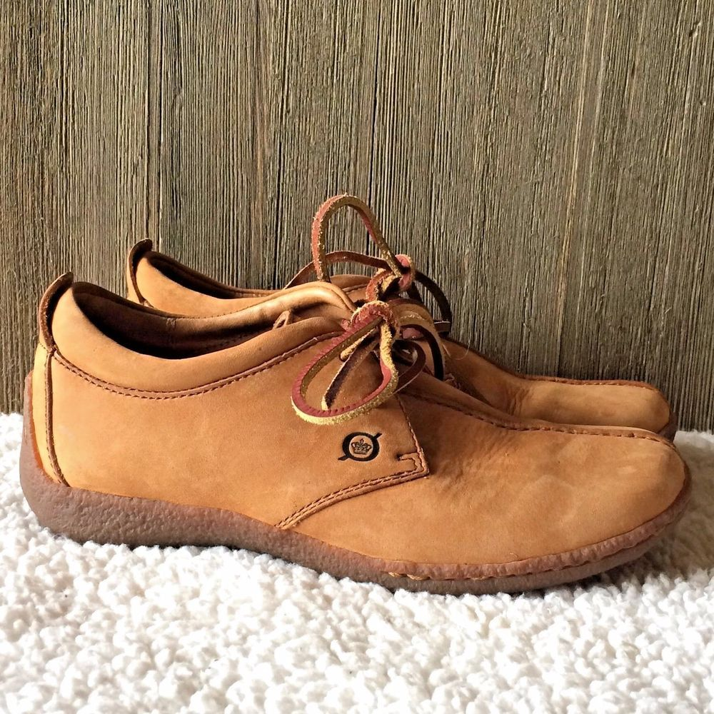 715a9c368aa0 BORN Womens W1244 Brown Nubuck Lace Up OXFORDS SHOES 6.5   37 Casual  Comfort  Born  Oxfords  Casual