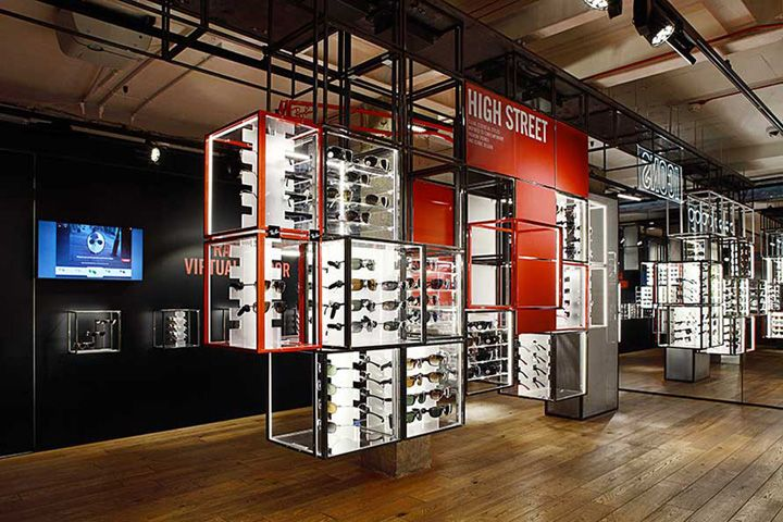 ray ban in stores  ray ban concept store at covent garden by puresang, london (retail design blog)