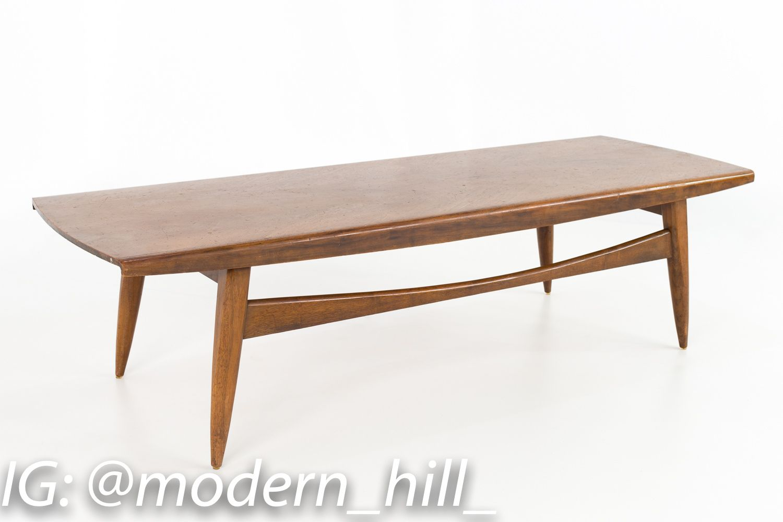 Mid Century Modern Walnut Danish Style Surfboard Coffee Table Mid Century Coffee Table Coffee Table Surfboard Coffee Table [ 1000 x 1500 Pixel ]