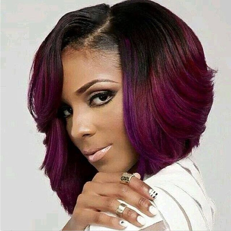 Sensational Human Hair Lace Front Wigs Black Women 2016 New Style Ombre Color Hairstyles For Women Draintrainus