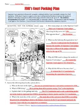 Franklin D. Roosevelt Court Packing Cartoon Analysis | How ...