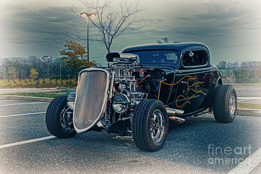 Old School Hot Rod Art | Hdr Hot Rod Car Cars Vintage Classic Old ...