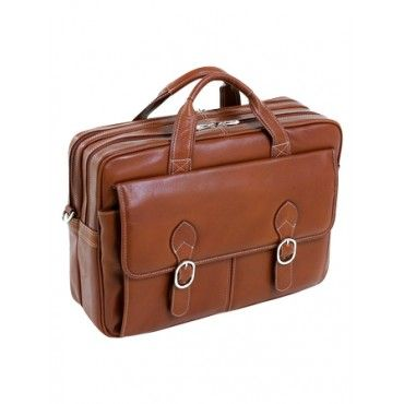mcklein kenwood 15.4 double compartment laptop case | Kolobags designer laptop bags