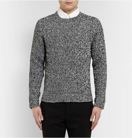 Calvin Klein CollectionGabriel Mélange Cotton and Cashmere-Blend Sweater