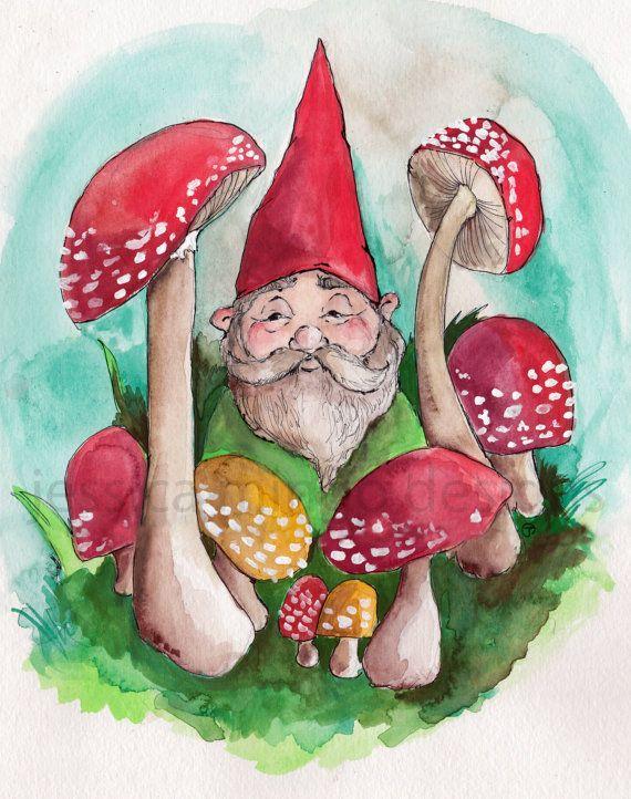 картинка гнома с грибами каждый житель россии