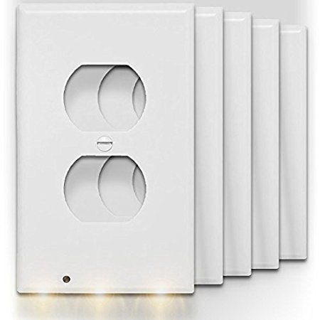 Best Bathroom Light Fixtures Snappower Guidelight Outlet Wall Plate With Led Night Lights No Batteries Or Wires Led Night Light Plates On Wall Night Light