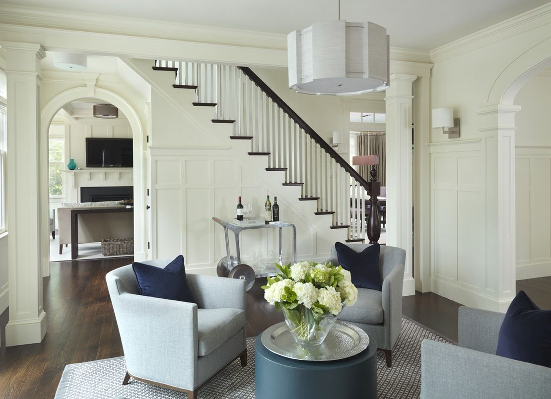 Old Hingham Hill  Foyer  Transitional by LDa Architecture & Interiors
