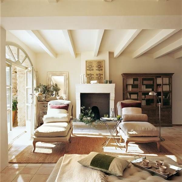 Una sala de estar r stica y afrancesada home pinterest for Sala de estar rustica