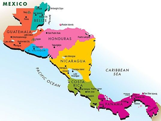 mapa da america central This site's teaching resources about Central America fit very  mapa da america central