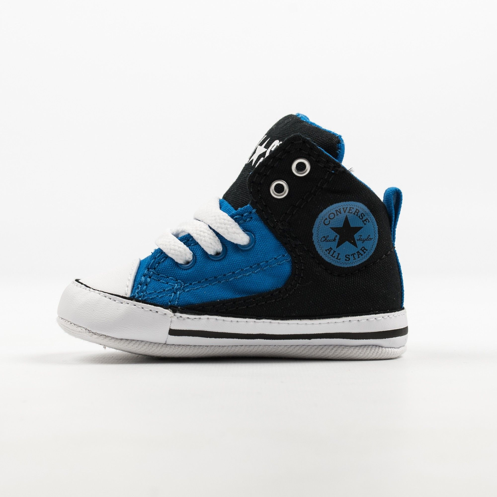 71708d2b8825 Converse Chuck Taylor All Star First Star High Street Hi blue-black lace-up canvas  baby sneakers