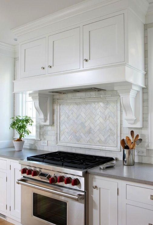 White Kitchen Hood suzie: normandy remodeling - gorgeous kitchen with trim and wood