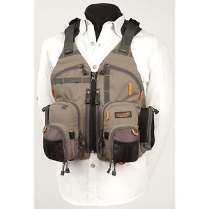 BUSHLINE Fishing Access Vest Supplies Clothes Tackle Gear Fly Ice New