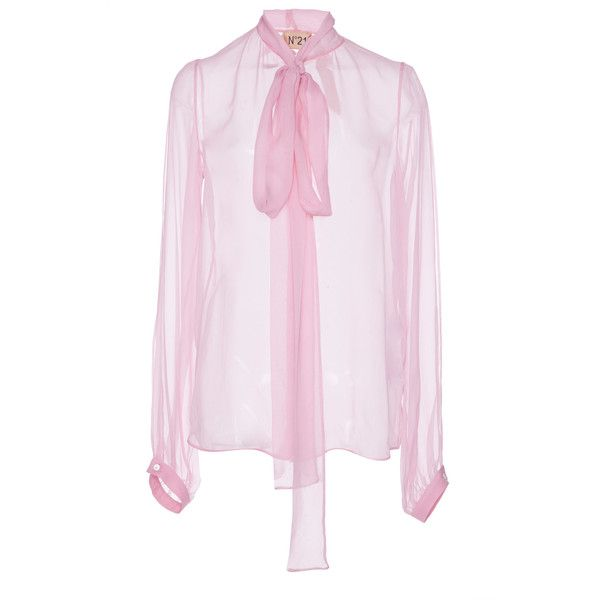 e95a110f35dbc5 N°21 Silk Organza Blouse (13.059.395 VND) ❤ liked on Polyvore featuring tops