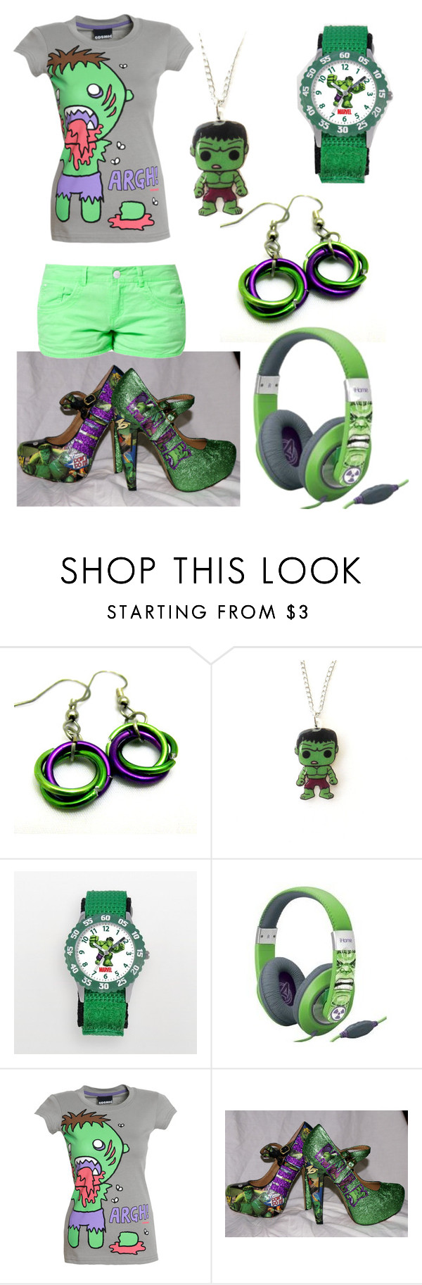 """""""Hulk"""" by natnat09 ❤ liked on Polyvore featuring iHome and TWINTIP"""