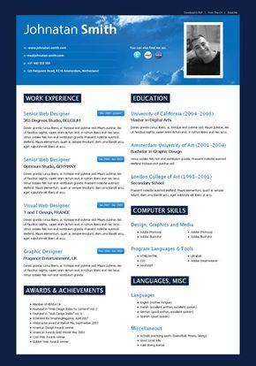 Html Resume Template Cielo Cv Cielo Cv Is A Modern Web20 Styled Html Cv Resume